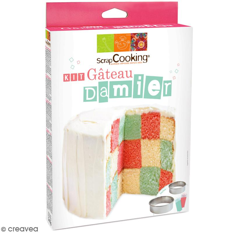 Kit g teau damier scrapcooking coffret cuisine cr ative - Coffret cuisine creative ...