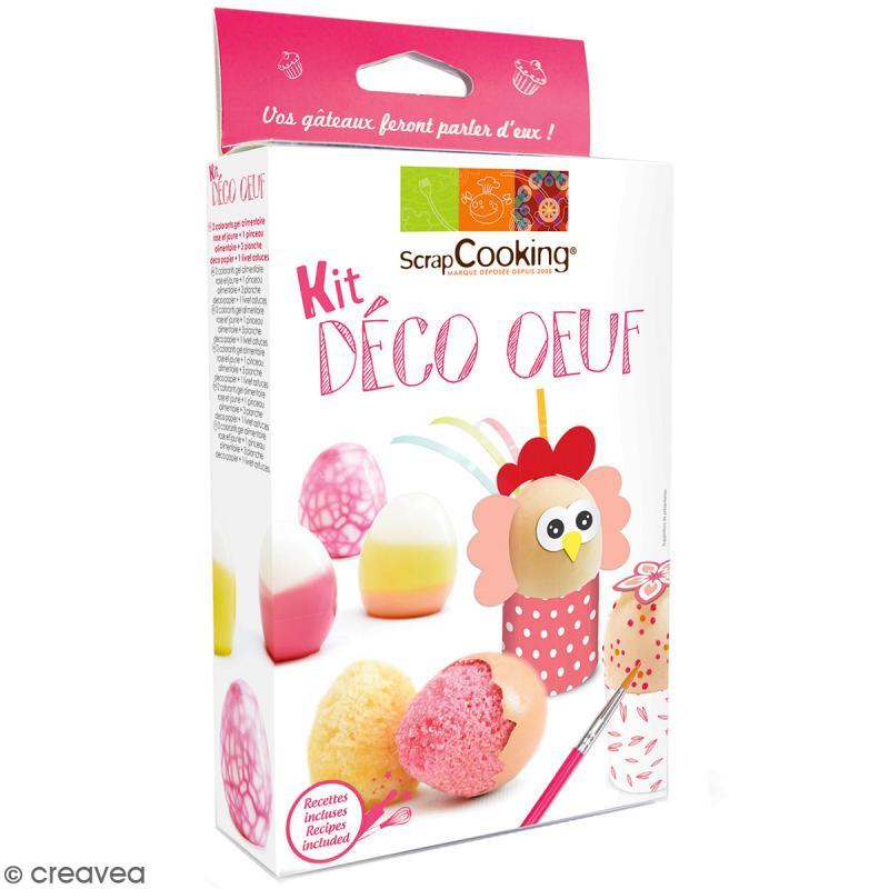 Kit alimentaire d co oeuf 7 pcs coffret cuisine cr ative creavea - Coffret cuisine creative ...