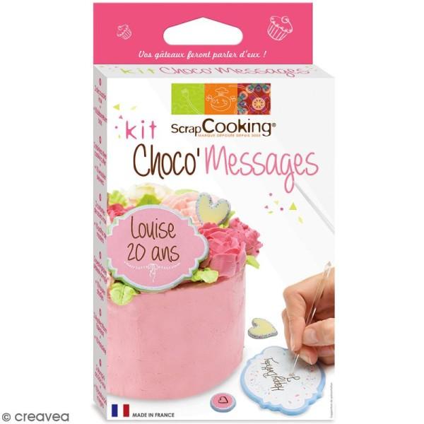 Kit Déco Choco Messages - 4 pcs - Photo n°1
