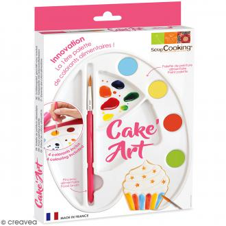 Palette de peinture alimentaire avec colorants Cake Art - 6 pcs