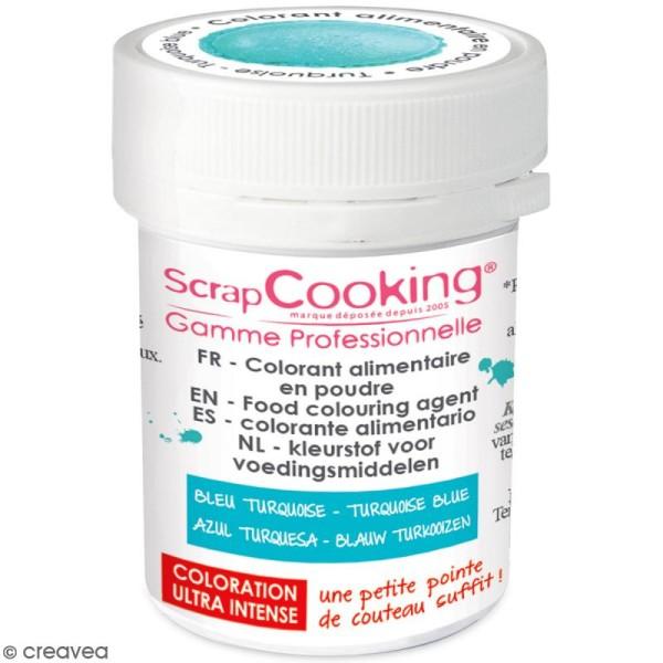 Colorant poudre alimentaire artificielle - Bleu turquoise - 5 g - Photo n°1