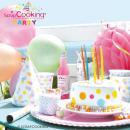 Assiettes Confettis pastels 23 cm - 8 pcs - Photo n°3