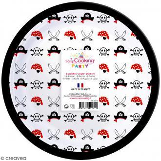 Assiettes Pirate 23 cm - 8 pcs