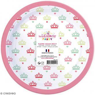 Assiettes Princesse 23 cm - 8 pcs