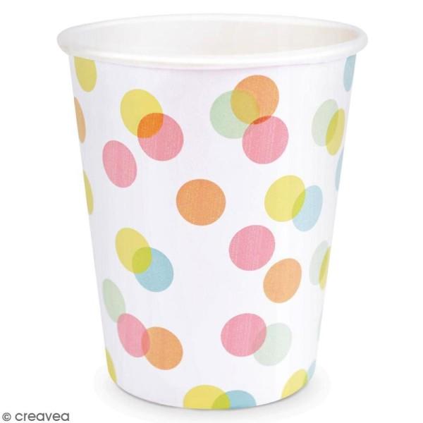 Gobelets Confettis pastels 25 cl - 8 pcs - Photo n°2