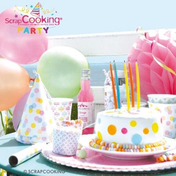 Gobelets Confettis pastels 25 cl - 8 pcs - Photo n°3