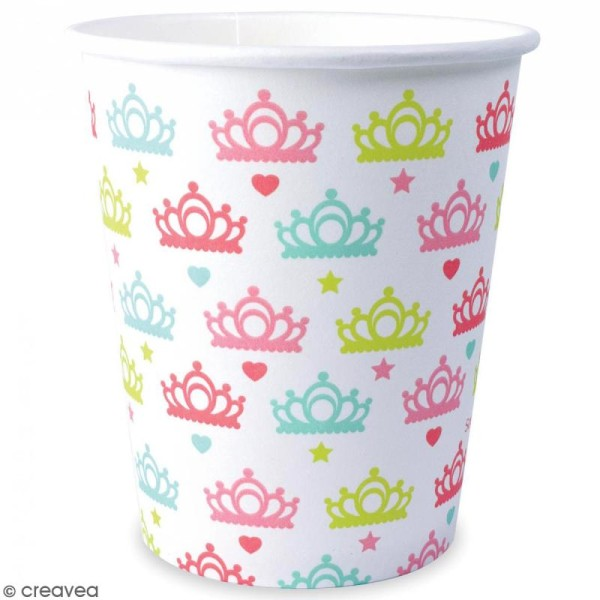 Gobelets princesse 25 cl - 8 pcs - Photo n°2
