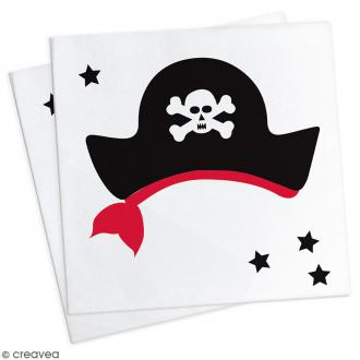 Serviettes en papier Pirate - 25 x 25 cm - 20 pcs