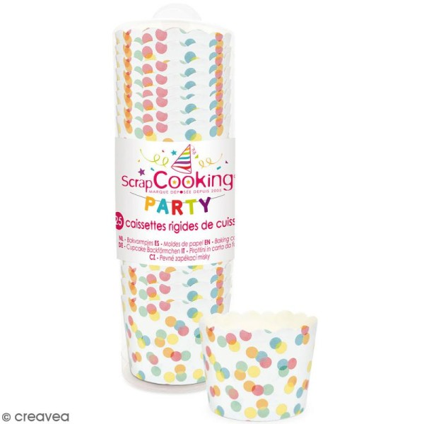 Caissettes de cuisson Confettis - 25 pcs - Photo n°1