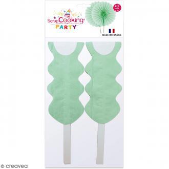 Rosace décorative Vert d'eau - 25 cm - 2 pcs