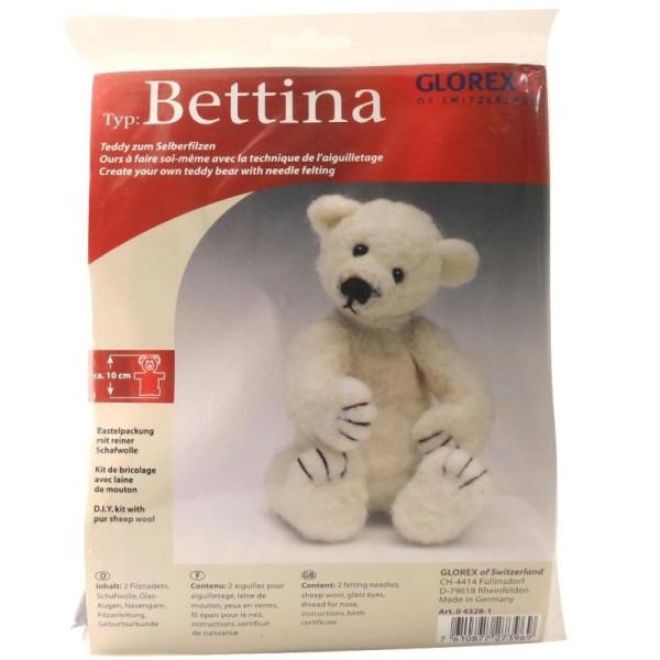Kit de feutrage ours Bettina - Photo n°1
