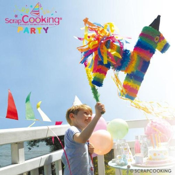 Bâton multicolore pour Piñata - 50 cm - Photo n°2