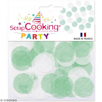 Confettis blancs et verts - 20 g
