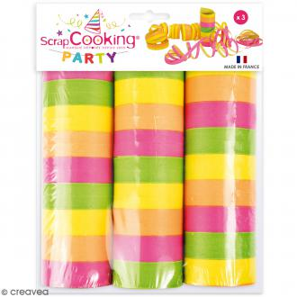 Serpentins multicolores - 3 rouleaux