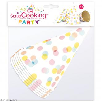 Chapeaux pointus Confettis en carton - 6 pcs