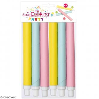 Sarbacanes pastel - 6 pcs