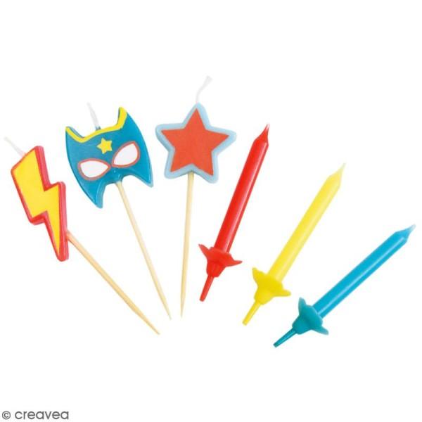 Bougies super héros - 15 pcs - Photo n°1