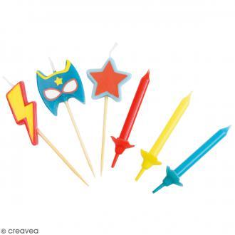 Bougies super héros - 15 pcs