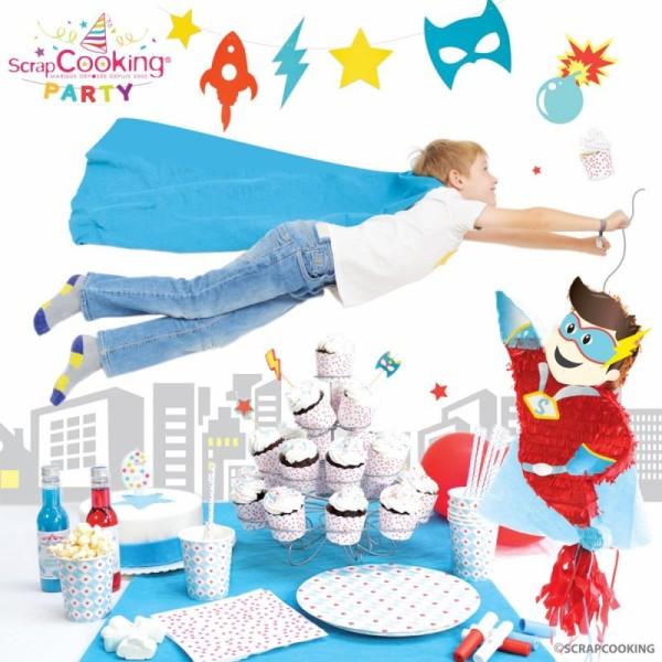 Cartes d'invitation super héros - 6 pcs - Photo n°2