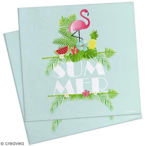Serviettes en papier summer - 33 x 33 cm - 20 pcs - Photo n°1