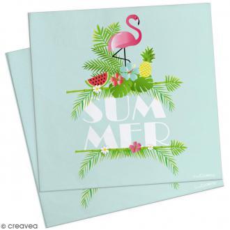 Serviettes en papier summer - 33 x 33 cm - 20 pcs