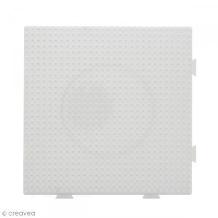 Plaque emboîtable pour perles à repasser Midi - Blanche - 1 pce - Photo n°2