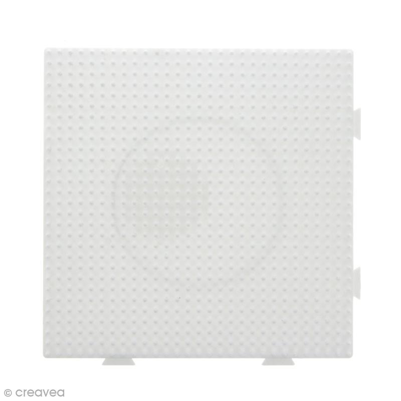 Plaques carrées emboîtables pour perles à repasser Midi - Blanches - 4 pcs - Photo n°4