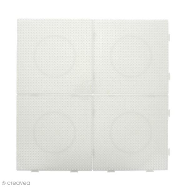 Plaques carrées emboîtables pour perles à repasser Midi - Blanches - 4 pcs - Photo n°2