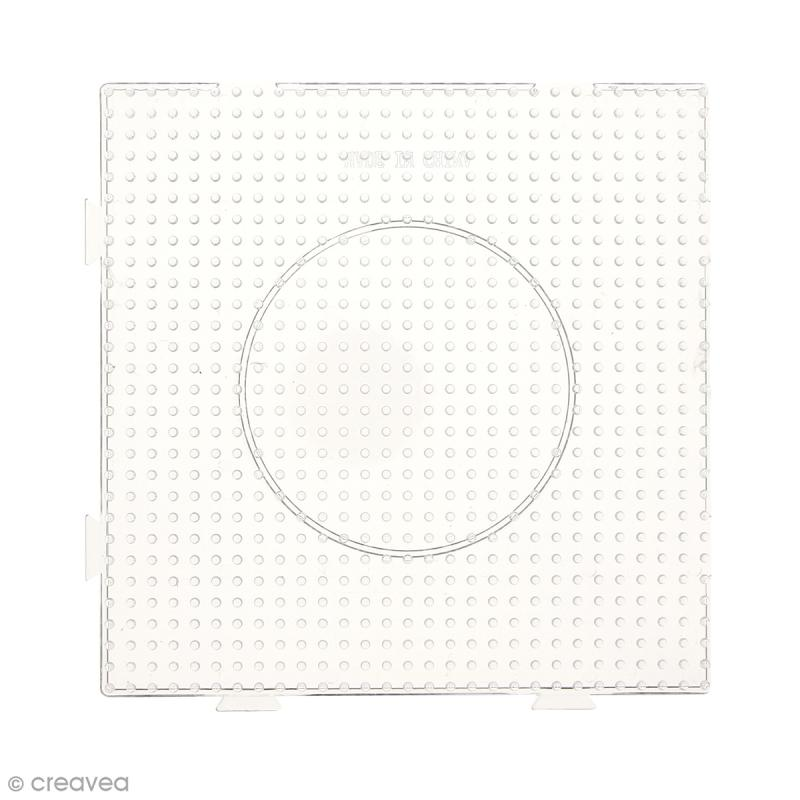 Plaque emboîtable pour perles à repasser Midi - Transparente - 1 pce - Photo n°2