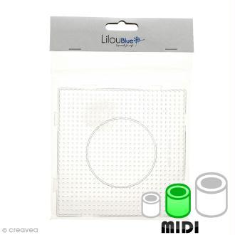 Plaque emboîtable pour perles à repasser Midi - Transparente - 1 pce