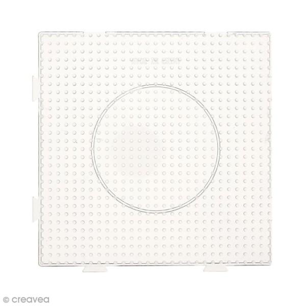 Plaques carrées emboîtables pour perles à repasser Midi - Transparentes - 4 pcs - Photo n°4