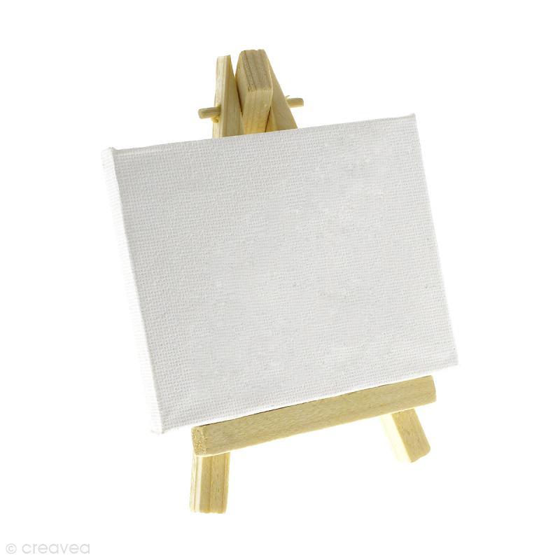 mini chevalet avec toile de 9 x 7 cm 1 pce chevalet creavea. Black Bedroom Furniture Sets. Home Design Ideas