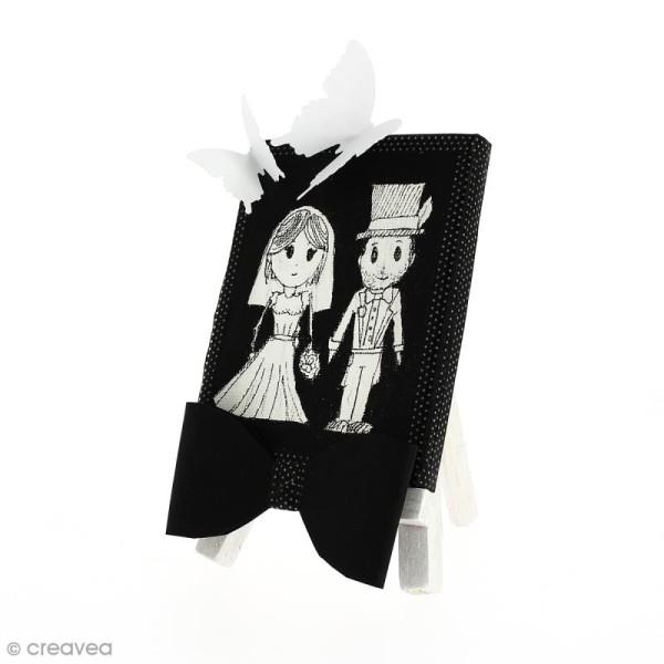 Mini chevalet avec toile de 9 x 7 cm - 1 pce - Photo n°4