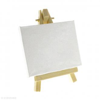 Mini chevalet avec toile de 9 x 7 cm - 1 pce
