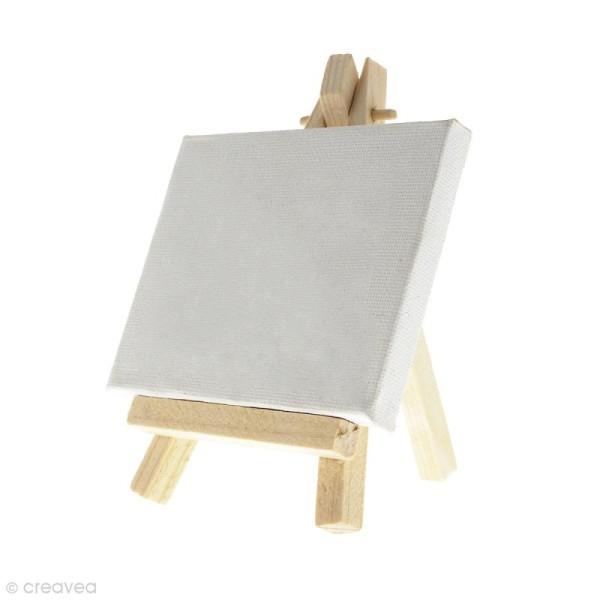 Mini chevalets avec toiles de 9 x 7 cm - 10 pcs - Photo n°4