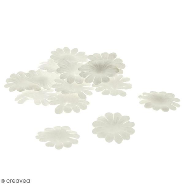 Fleurs en papier - Marguerites Blanches - 2,5 cm - 25 pcs - Photo n°1
