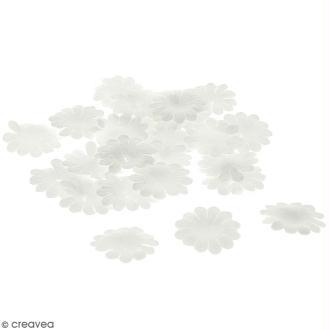 Fleurs en papier - Marguerites Blanches - 2,5 cm - 50 pcs