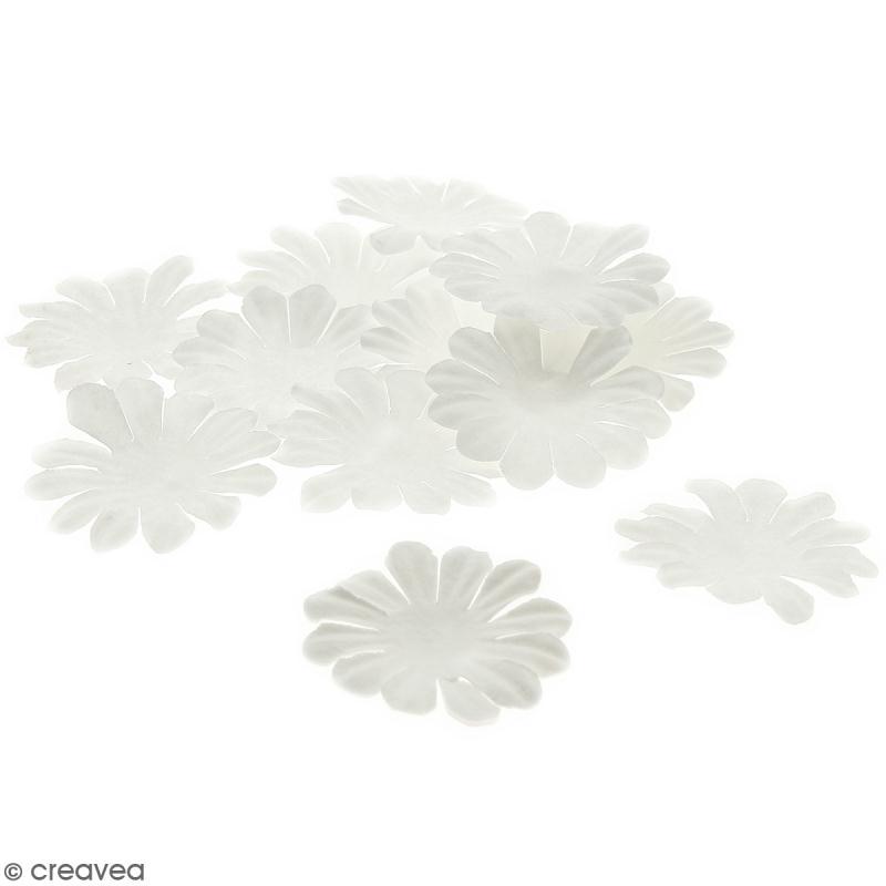 Fleurs en papier - Marguerites Blanches - 4 cm - 25 pcs - Photo n°1