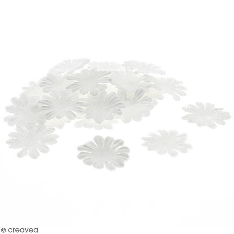 Fleurs en papier - Marguerites Blanches - 4 cm - 50 pcs - Photo n°1
