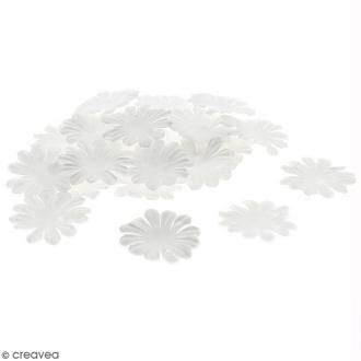 Fleurs en papier - Marguerites Blanches - 4 cm - 50 pcs