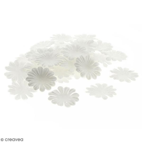 Fleurs en papier - Marguerites Blanches - 4 cm - 100 pcs - Photo n°1