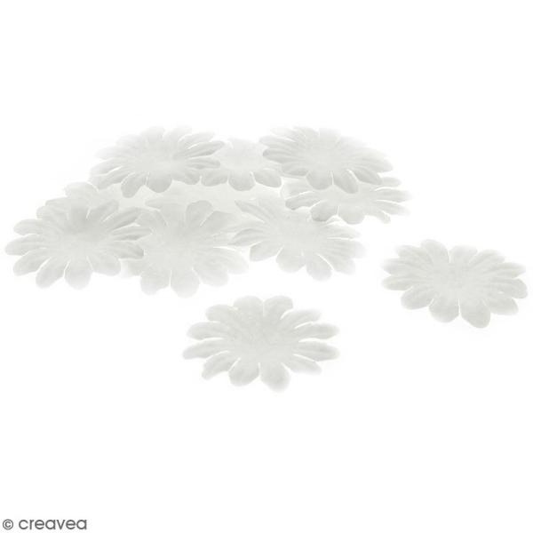 Fleurs en papier - Marguerites Blanches - 5 cm - 25 pcs - Photo n°1