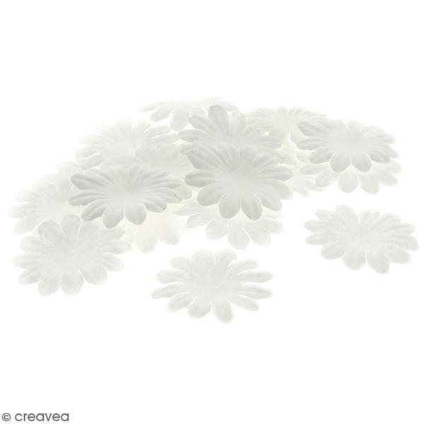 Fleurs en papier - Marguerites Blanches - 5 cm - 50 pcs - Photo n°1