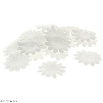 Fleurs en papier - Marguerites Blanches - 5 cm - 50 pcs