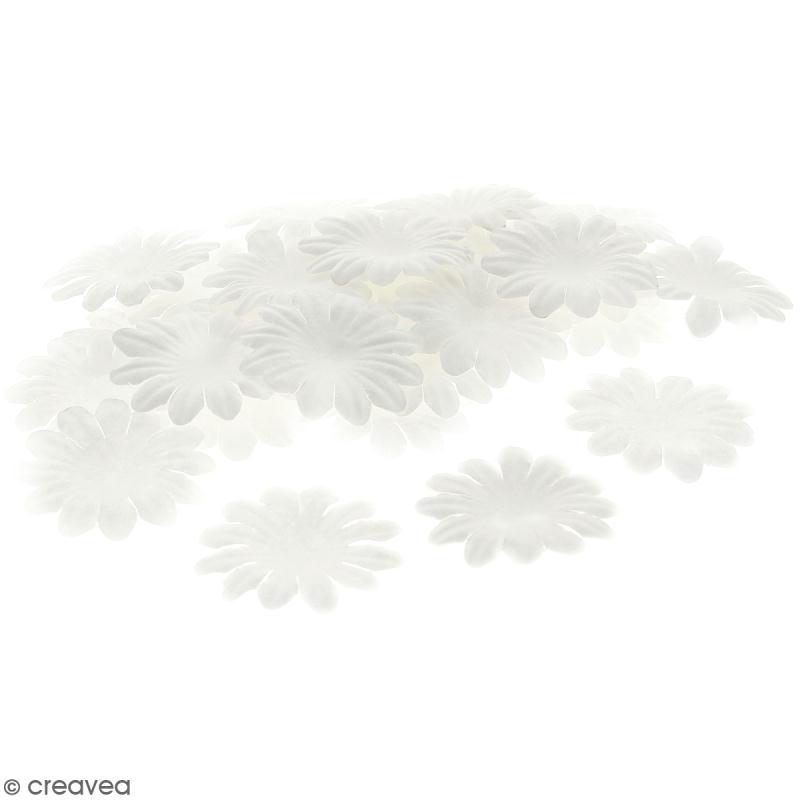 Fleurs en papier - Marguerites Blanches - 5 cm - 100 pcs - Photo n°1