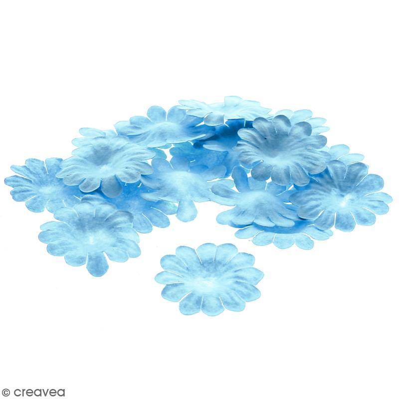 Fleurs en papier - Marguerites Bleues - 2,5 cm - 25 pcs - Photo n°1