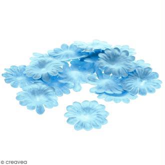 Fleurs en papier - Marguerites Bleues - 2,5 cm - 25 pcs