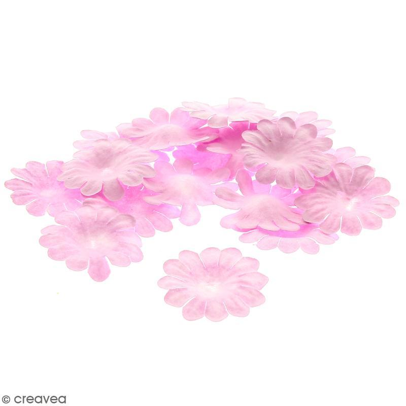 Fleurs en papier - Marguerites Roses - 2,5 cm - 25 pcs - Photo n°1