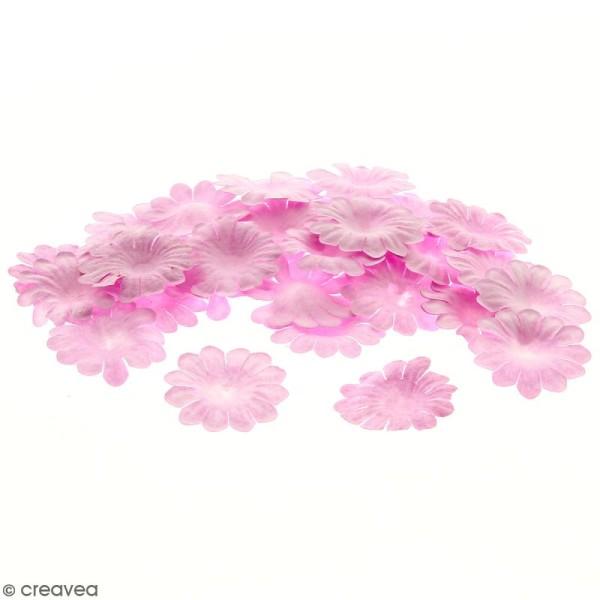 Fleurs en papier - Marguerites Roses - 2,5 cm - 50 pcs - Photo n°1