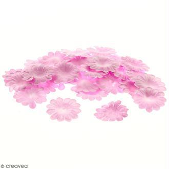 Fleurs en papier - Marguerites Roses - 2,5 cm - 50 pcs